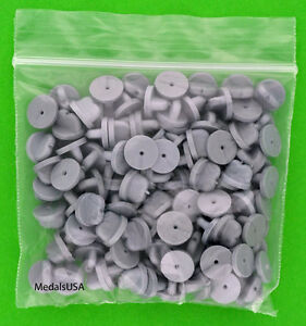 100-Plastic-Clasps-fasteners-for-Collector-Pins-Lapel-Hat-Pins-amp-Tie-Tacks