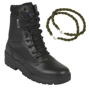 PATROL-COMBAT-BOOTS-BLACK-50-50-LEATHER-TACTICAL-MILITARY-WITH-TROUSER-TWISTS