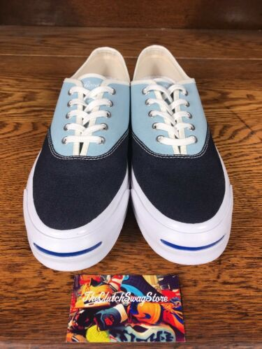 Converse Jack Purcell Signature Ox Mens Casual Shoe Blue//White 151455C All Szs