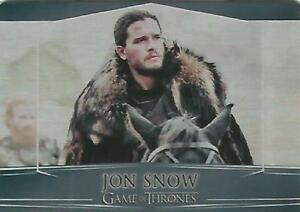 Game-of-Thrones-Valyrian-Steel-5-034-Jon-Snow-034-Metal-Base-Card