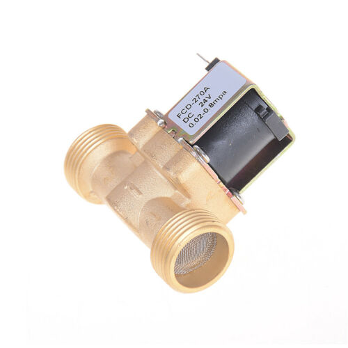 """3//4/"""" NPSM DC Brass Electric Solenoid Valve Water Air Normally Closed Valves ONZY"""