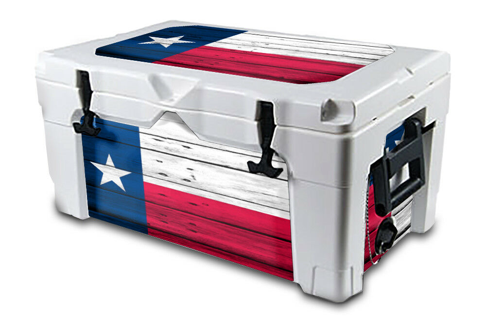 USATuff Decal Wrap L+I Kit fits IGLOO Sportsman 55qt Cooler Texas Flag WD