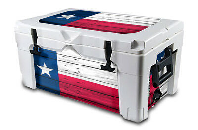 USATuff Decal Wrap Lid Kit fits IGLOO Sportsman 55qt Cooler Texas Flag WD