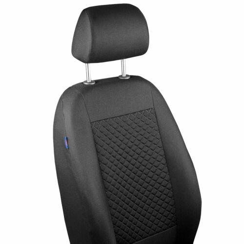 Schwarze Karomuster Sitzbezug für MAZDA 2 Fahrer Sitzbezug