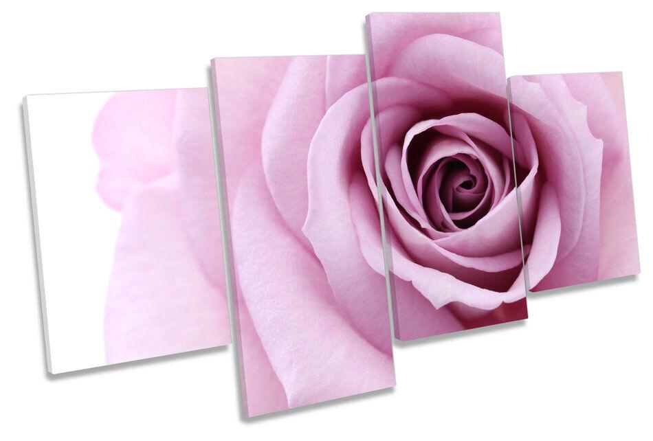 Plum rosa rosa Fiore Fiore Fiore foto Multi Tela Wall Art Print 1f799a