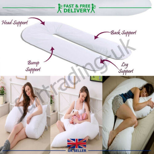 12FT Giant U Shaped Pillow Extra Filled Pregnancy Maternity Body Back Support