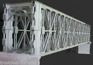Details about 74' Square Howe Truss Steel Bridge (Box Girder) HO 1:87 brass  handmade