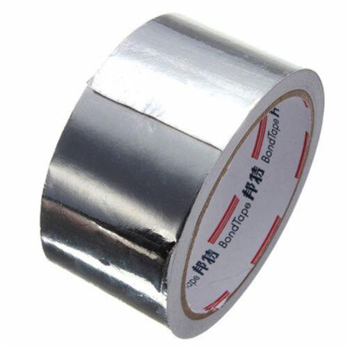 5cm*17m Aluminium Foil Adhesive Sealing Tape Thermal Resist Duct Repairs tooO  U