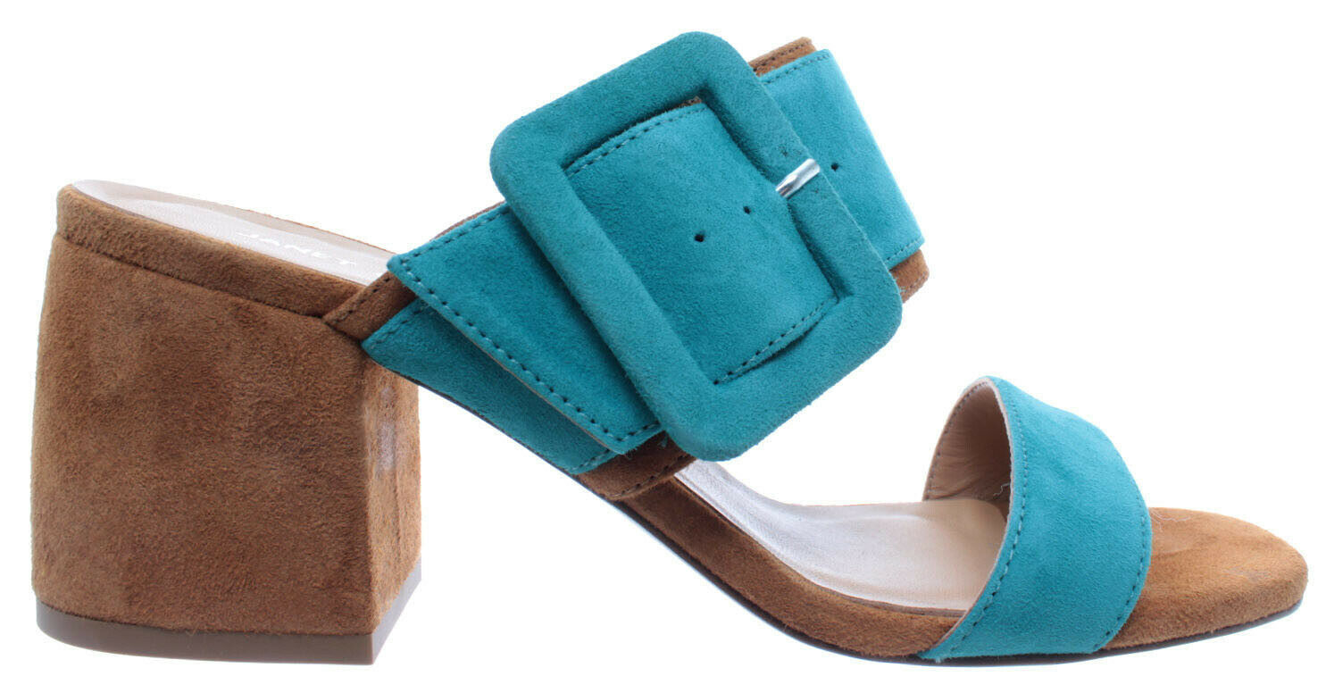 Janet & Janet para mujeres Zapatos Zapatos Zapatos Sandalia Tacón Adele Esmeralda Gamuza Nuevo  centro comercial de moda