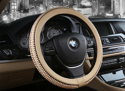 Fashion Elastic Ice Silk DIY Car Steering Wheel Cover Sets Black XF669