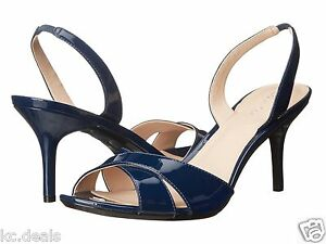 Womens Shoes Calvin Klein Lucette Navy Patent Leather