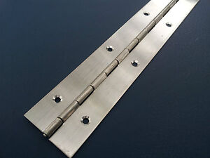 PIANO-HINGE-STAINLESS-STEEL-CABINET-BOAT-600mm-X-40mm-CONTINUOUS-HINGES