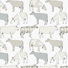 Essener Tapete Kitchen Style 3 KK29952 Cow Cows White Beige Vinyl Wallpaper