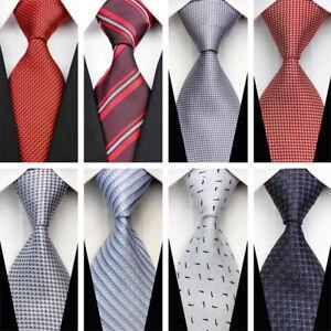 2e1d502cd11f Light Blue Black Grey Brown Men's Wedding Stripe Necktie Silk ...