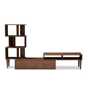 Image Is Loading Haversham Mid Century Retro Tv Stand Entertainment Center