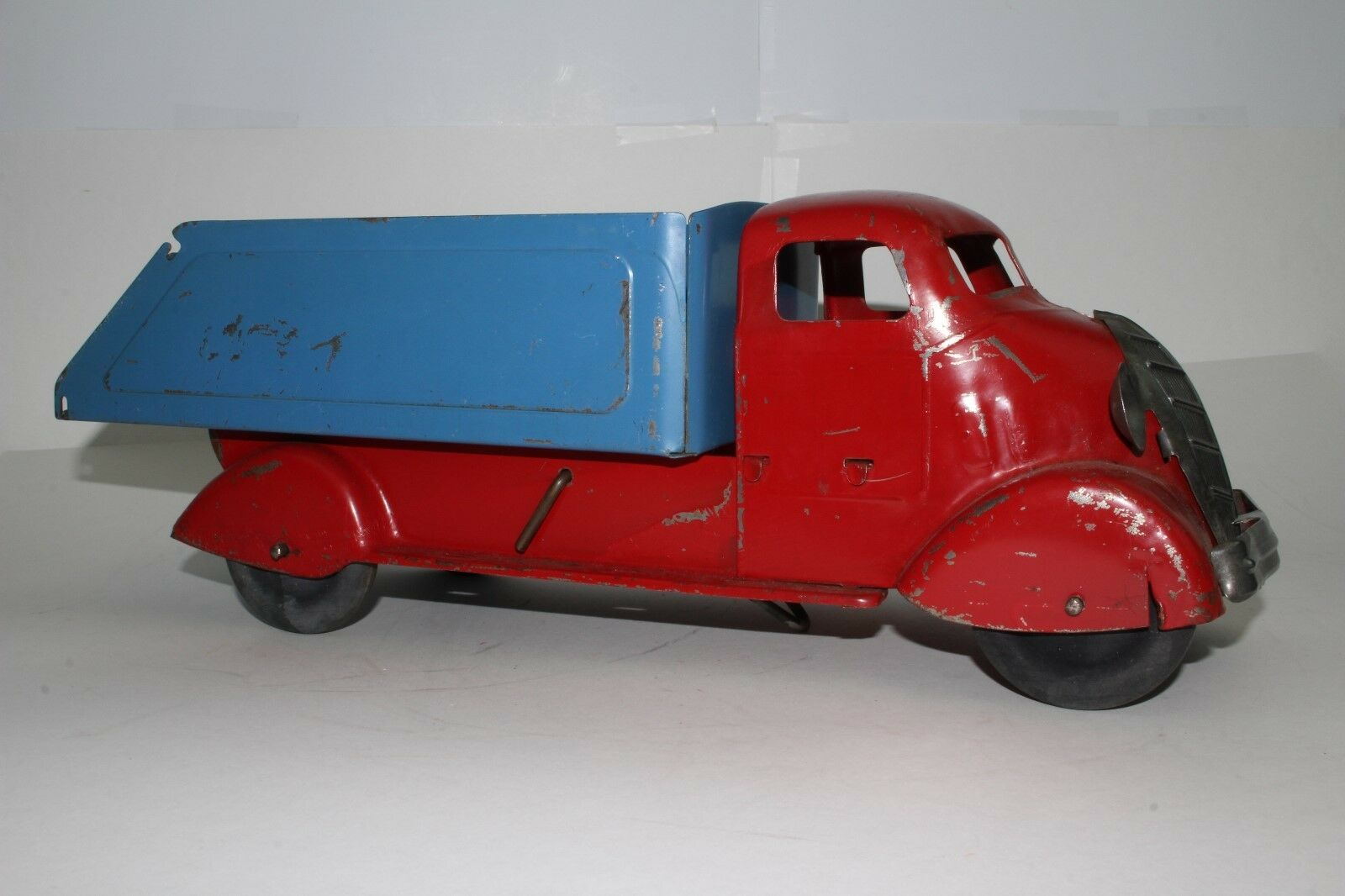 588ms Marx Grande Studebaker Volquete, Rojo y Azul Buen Estado Original 2