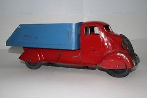 588ms Marx Grand Studebaker Dump Truck, Rouge Et Bleu Agréable Original 2