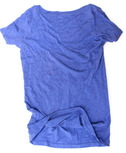 CLOCKWORK GEARS MIDNIGHT MESSAGE Med Womens T-Shirt Short Sleeve Blue Cotton NEW