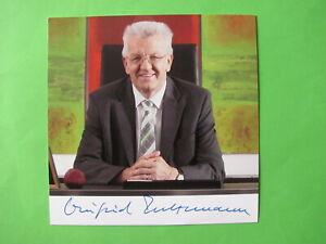 Autogrammkarte - Winfried Kretschmann - Die Grünen - original autograph