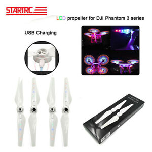 Amical 2 Pairs Phantom Led Flash Propeller Blade For Dji Phantom 3 Drone Accessories