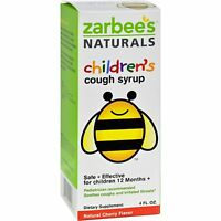 2 Pack Zarbee's Naturals Children's Cough Syrup Natural Cherry Flavor 4 Oz Each on sale