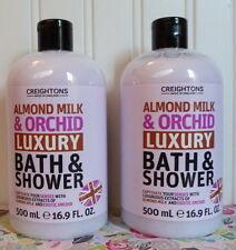 TWO CREIGHTONS ALMOND MILK & ORCHID LUXURY BATH & SHOWER BODY WASH 16.9 OZ
