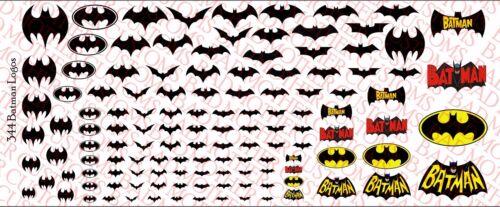 DECALS Batman Logos-Waterslide Decals Divers Tailles