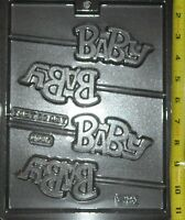 B A B Y Lollipop Chocolate Candy Mold Baby Shower Party Favors