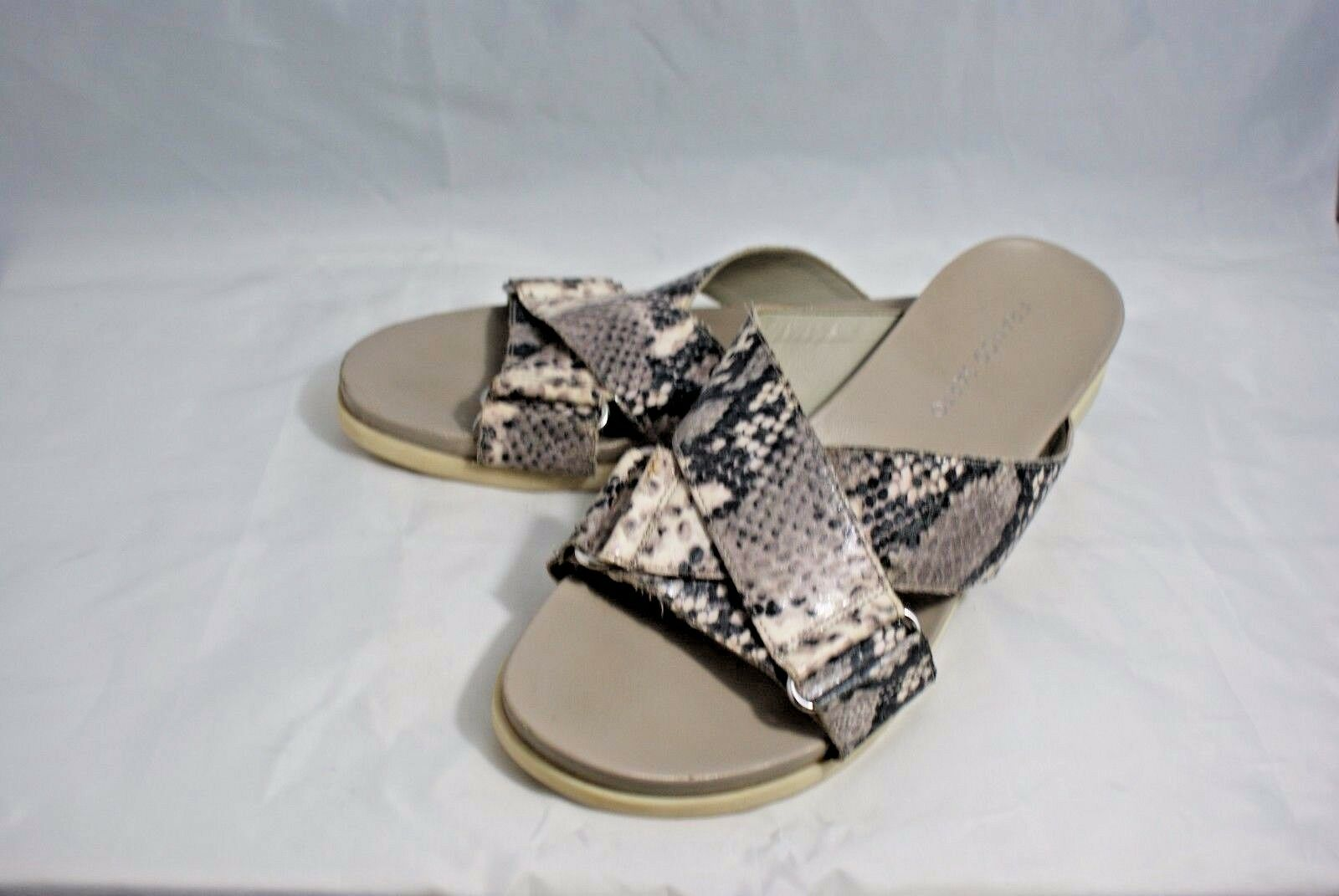 Franco Sarto M Lure Women's US 9 M Sarto Gray Snake Print Slides Sandals EUC db676c