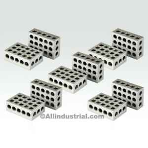 5-MATCHED-PAIRS-ULTRA-PRECISION-1-2-3-BLOCKS-23-HOLES-0001-034-MACHINIST-123