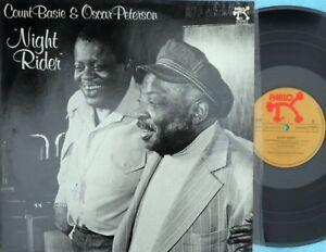 Count-Basie-amp-Oscar-Peterson-ORIG-GER-LP-Night-rider-EX-80-Pablo-Jazz-Swing