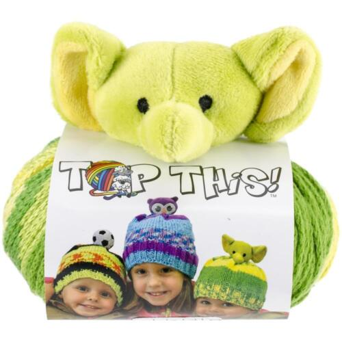 top this fun hat knitting kit DMC free patterns fun pompom topper