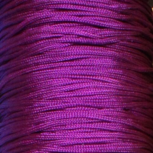 27 COLOUR 1.5mm Braided Nylon Cord Shamballa Light Blind Pull Jewellery 4 8 16m