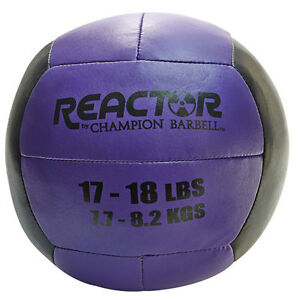Reactor by Champion Barbell™ Medicine Ball 17-18 lb. Purple