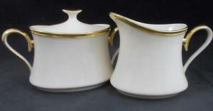 Lenox-ETERNAL-Creamer-amp-Sugar-Bowl-with-Lid-GREAT-CONDITION