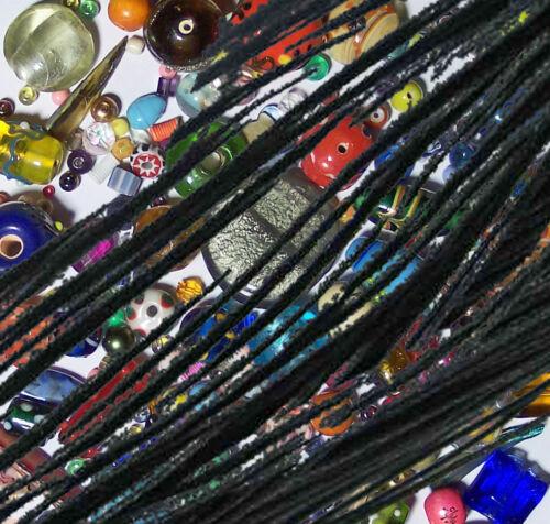 10 m Perlschnur gewachst in schwarz 1 mm Schmuckzubehör Perlfaden Ketten basteln