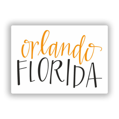2 x Orlando Florida Vinyl Stickers Travel Luggage #10566