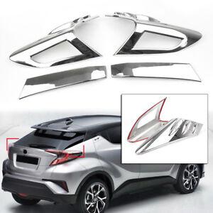 Silver Rear Roof Brake Light Lamp Trim Cover For Toyota CHR C-HR 2016-2018 2019