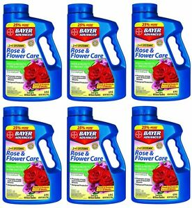 6 Bayer 701100a 5 Lb Systemic 2 In 1 Rose Flower Care Insect Control W Food 687073011005 Ebay