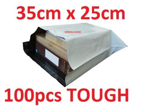 POLY COURIER BAG MAILER MAILING SATCHEL 100 PCS 350MM X 250MM POST SATCHEL