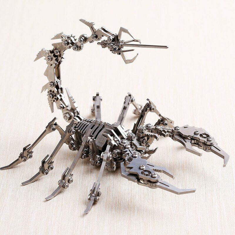 Insect Scorpion 3D Steel Metal Finished DIY Joint Mobility Miniature