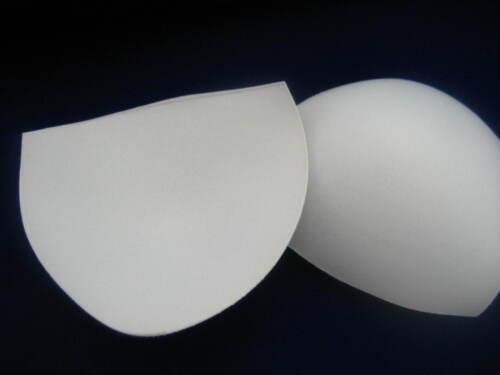 UK stock white Bikini Bra Push Up Foam Pads Swimsuit sport gym bra Insert Pad
