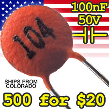 Ceramic Disc Capacitor 104 100nf For Ttl Arduino And Raspberry Pi Diy Projects