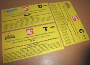 SDCC-bandai-COMIC-CON-ticket-POWER-RANGERS-dino-charger-WHITE-RANGER-doraemon