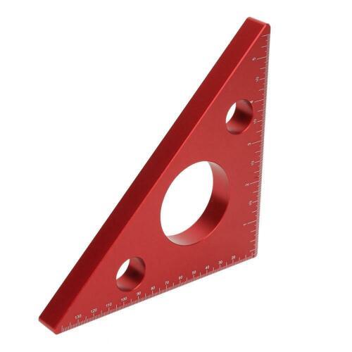 En alliage d/'aluminium angle droit souverain À faire soi-même Woodworking Triangle Ruler outil de mesure