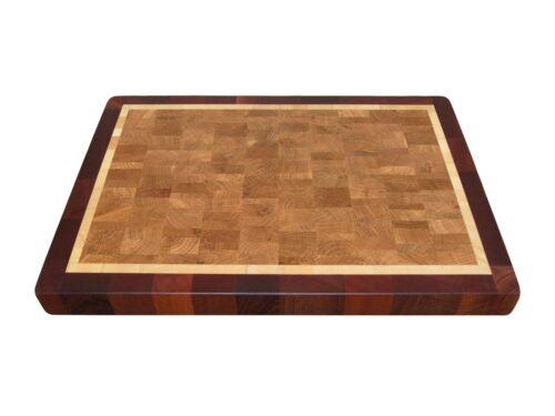 Cutting Board End Grain with Feet Wood Butcher Block Chopping Block Handmade