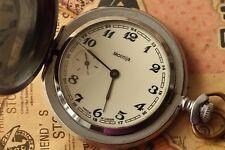 VINTAGE MOLNIJA USSR Soviet Pocket Watch Mechanical 3602