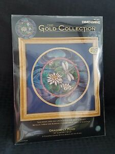Dimensions Gold Collection Counted Cross Dragonfly Pond 35167 NEW