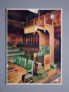 R-amp-L-Postcard-Palace-of-Westminster-Speaker-039-s-Chair-Walter-Scott-London