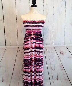 Cynthia-Rowley-Women-039-s-Maxi-Tube-Strapless-Dress-Size-M-Medium-Tie-Die-New